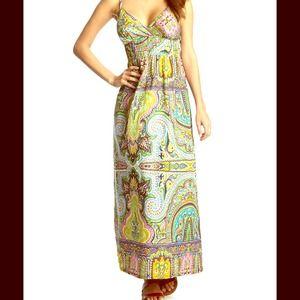 She's Cool Maxi Dress Floral Tank Dress NWT