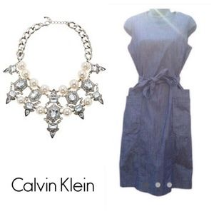 Calvin Klein Denim Belted Dress