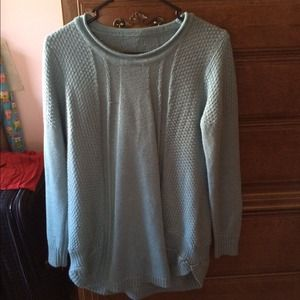 Blue sweater size small.