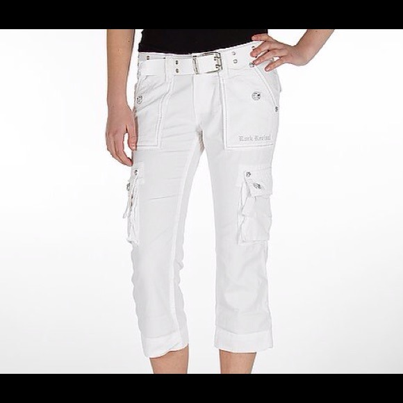 57% off Rock Revival Pants - Rock Revival White Belted Cargo ...