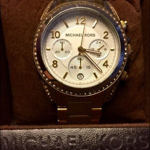 Michael Kors Ladies Two Toned Chronograph Watch