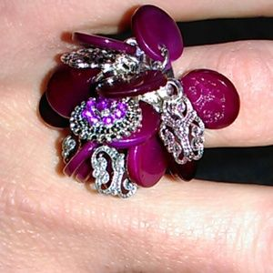 mark by avon Jewelry - NWT Magenta disc ring.