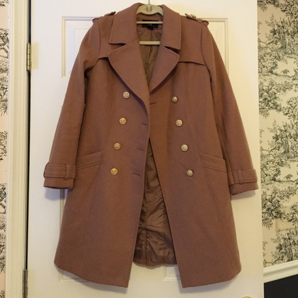 69% off H&M Outerwear - H&M Double Breasted Camel Military Coat ...