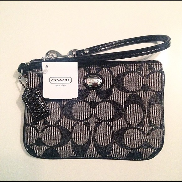Coach Clutches & Wallets - Coach Black Logo Wristlet