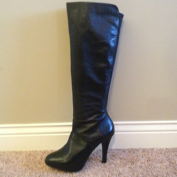 60% off me too Shoes - Me Too black leather knee high ...