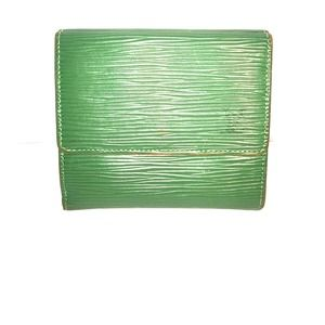 Authentic Vintage Green Epi Louis Vuitton Wallet