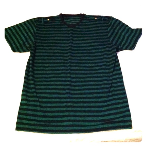 a9200b1e4a Members Property Shirts | Mens Green Black Striped Shirt | Poshmark