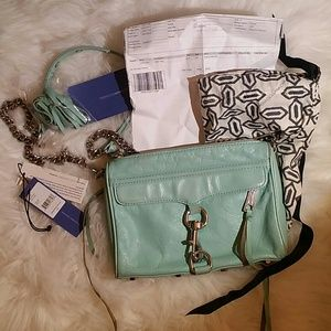 rebecca minkoff mini minty mac tiffany blue