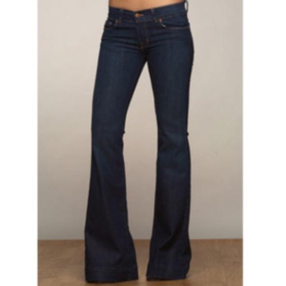 6d2b0a9354e2 J Brand Lovestory denim jeans bell flare sz 26