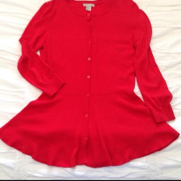 H&m Red Peplum Sweater Top