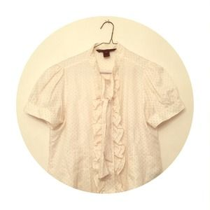 Marc by Marc Jacobs white blouse with polka dots