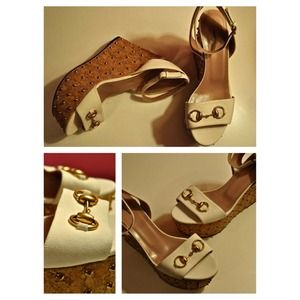 Gucci Liliane Studded Platform Sandals Size 40