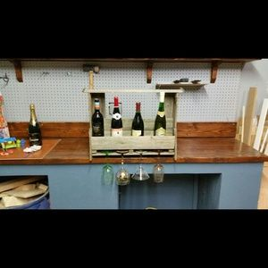 Other - Wine rack/glass holder from reclaimed wood