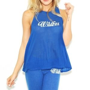 Wildfox AUTHENTIC Island Tank Top in Blue