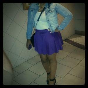 Body Central Dresses & Skirts - Purple Flared Skirt