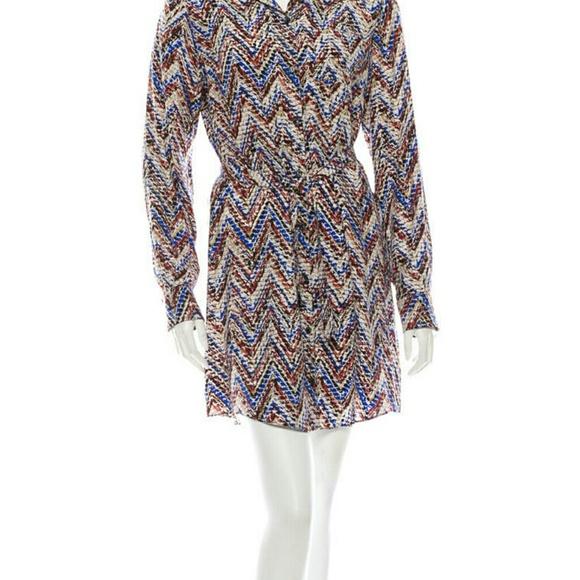 76 off parker dresses skirts parker long sleeved silk for Long sleeve silk shirt dress