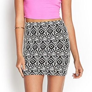 Forever 21 Tribal Print Bodycon Skirt