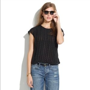 Madewell Silk Texturepleat Top