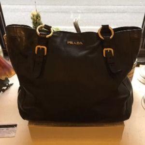 prada bag fake - 100% off Prada Handbags - ??Authentic Prada Black Nero Tessuto ...