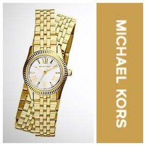 Michael Kors Gold Lexington Wrap Around Watch NWT