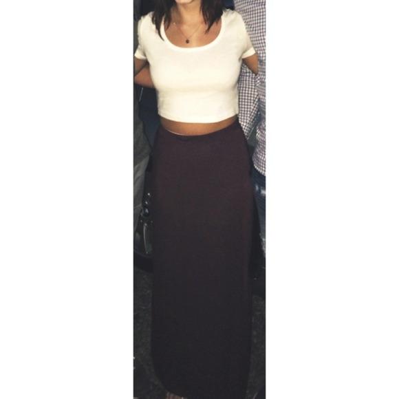 Brandy Melville - 💥FLASH SALE💥 Brandy Melville Plum Maxi Skirt ...