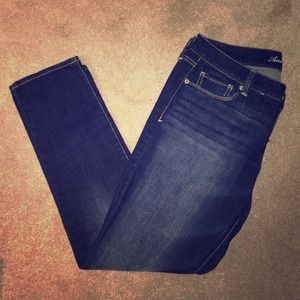 AE dark wash skinny jeans