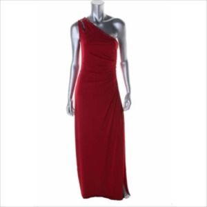Laundry by Shelli Segal Dresses & Skirts - 🌟2X HOST PICK🌟GORGEOUS RED ONE SHOULDER GOWN!