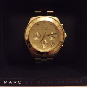Marc Jacobs Blade Chronograph Watch Gold
