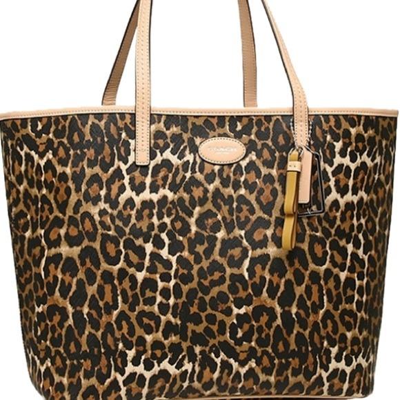 3a134246e459 Coach Leopard Tote Bag