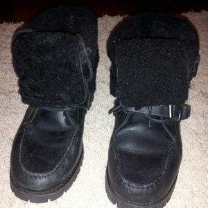RALPH LAUREN fur booties