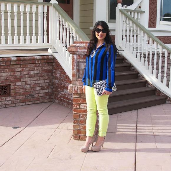 Hurley Pants - Chartreuse Skinny Pants by Hurley