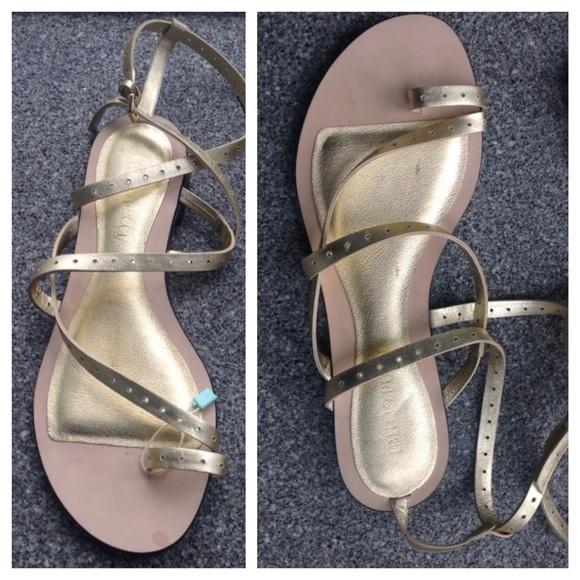 30203ac4869 AUTHENTIC Emilio Pucci Gold Sandals 10 40 NIB