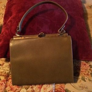 Triangle Handbags - REDUCED!! Vintage taupe purse