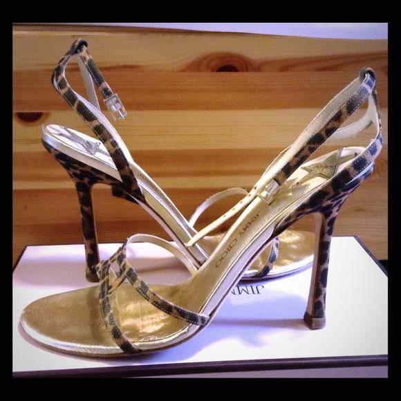 fed1d044e1 Jimmy Choo Shoes | Vintage Leopard Silksatin Sandal | Poshmark