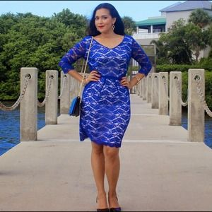 Dresses & Skirts - Flash Sale! Antonio Melani Blue Lace Dress