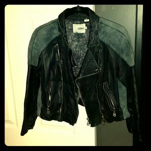 DOMA cropped leather jacket