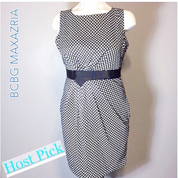 BCBGMaxAzria Dresses & Skirts - Black/White Polka Dot Dress