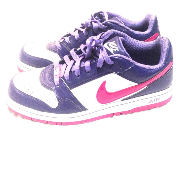 nike nike air shoes pink purple and white from