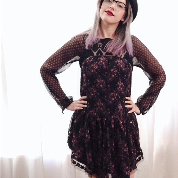 Free People Dresses - Free People Dark Floral Dress