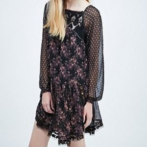 Free People Dark Floral Dress