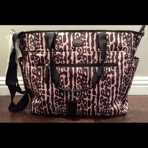 COACH Signature Nylon Diaper Bag.
