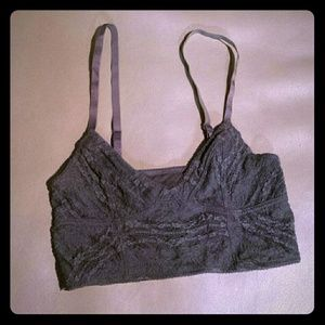 Free people gray lace bandeau