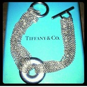 Tiffany & Co. Multi Chain Retired Toggle Bracelet