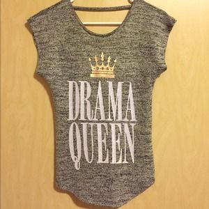 Juniors Drama Queen V-Back Top