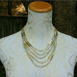 ☆HP☆ Amrita Singh Meredith Necklace Gold Crystal