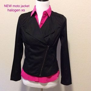 NEW moto style jacket. Halogen (Nordstrom) sz XS