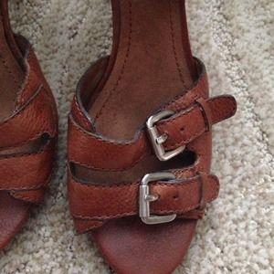 Nine West Shoes - Nine West leather summer heeled sandal