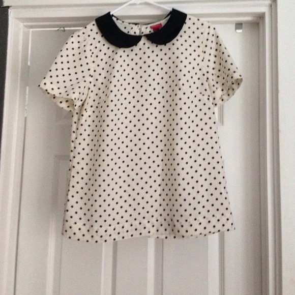 Merona Tops - Merona polka dot collared blouse