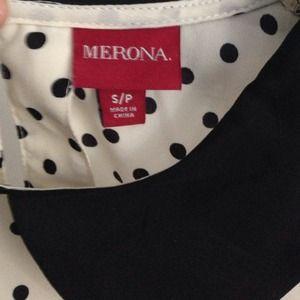 Merona Tops - Merona polka dot collared blouse