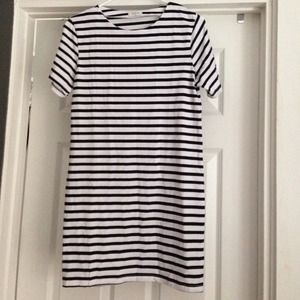 Dresses - Sheinside striped tshirt dress
